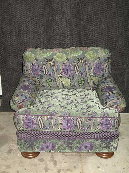 chair with custom fabric